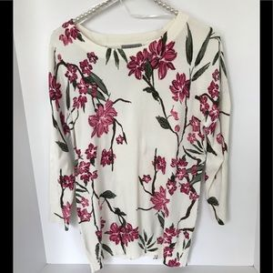 Floral 3/4 Sleeve Sweater - NWT
